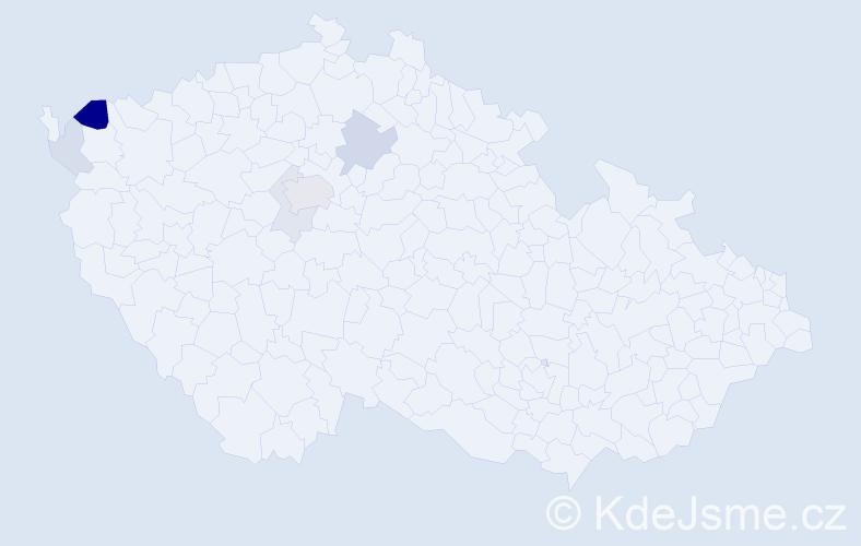 Příjmení: 'Ernstbergerová', počet výskytů 14 v celé ČR