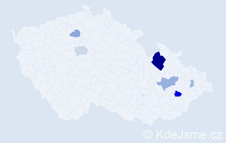 Příjmení: 'Gacho', počet výskytů 24 v celé ČR