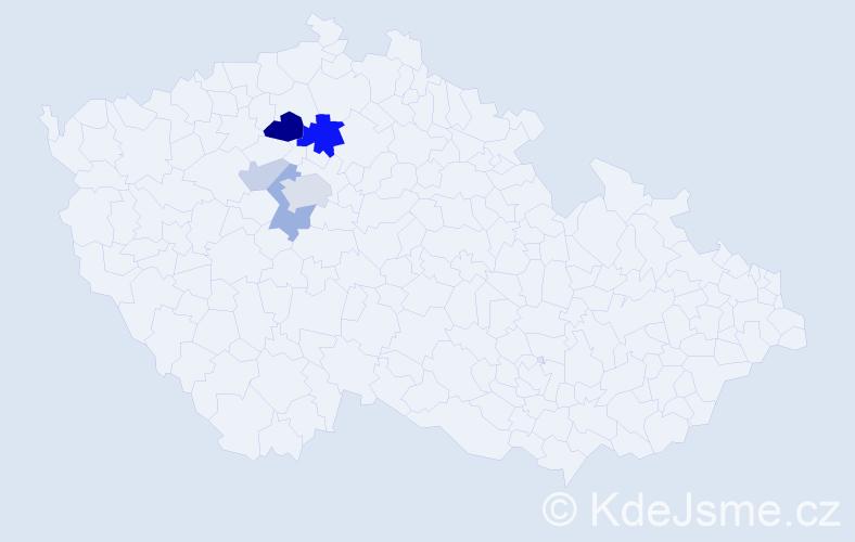 Příjmení: 'Děžinský', počet výskytů 15 v celé ČR