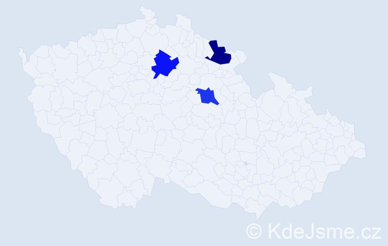 Příjmení: 'Kardasz', počet výskytů 3 v celé ČR