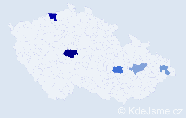 Příjmení: 'Gloneková', počet výskytů 8 v celé ČR