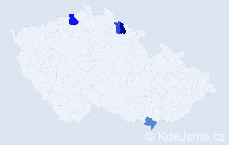 Příjmení: 'Latínová', počet výskytů 10 v celé ČR