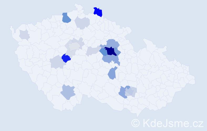 Příjmení: 'Jírek', počet výskytů 68 v celé ČR