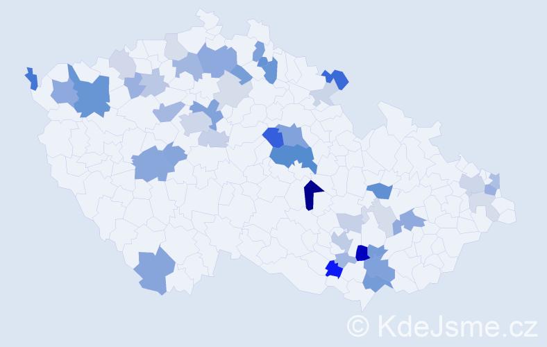Příjmení: 'Horych', počet výskytů 110 v celé ČR