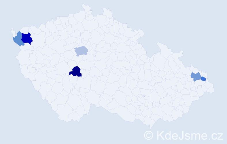 Příjmení: 'Džadoň', počet výskytů 14 v celé ČR