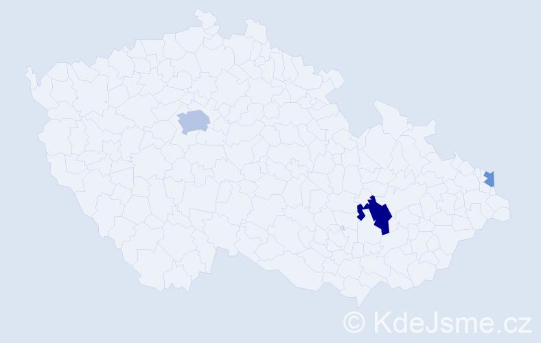 Příjmení: 'Erdem', počet výskytů 7 v celé ČR