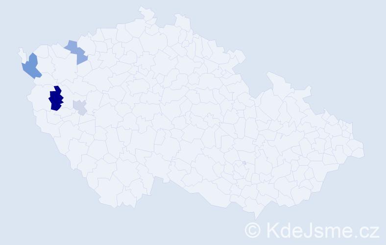 Příjmení: 'Křeválková', počet výskytů 6 v celé ČR