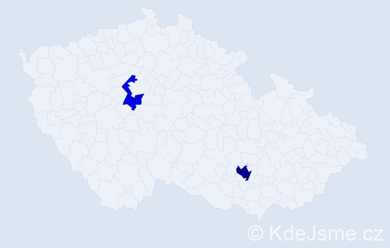 Příjmení: 'Bartúnková', počet výskytů 4 v celé ČR