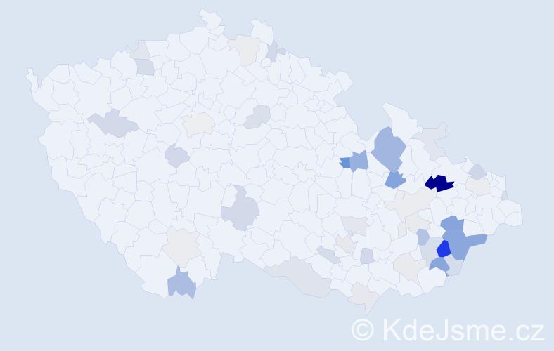 Příjmení: 'Barbořák', počet výskytů 100 v celé ČR
