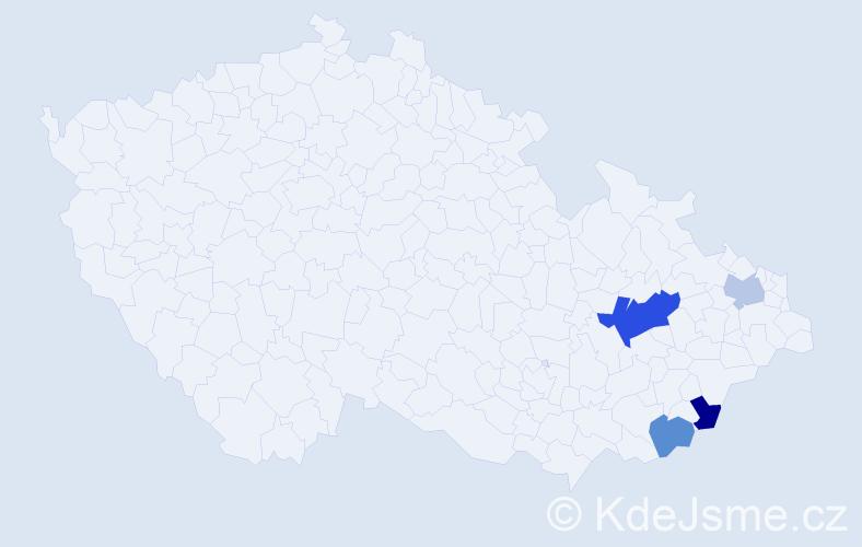 Příjmení: 'Hruzková', počet výskytů 6 v celé ČR