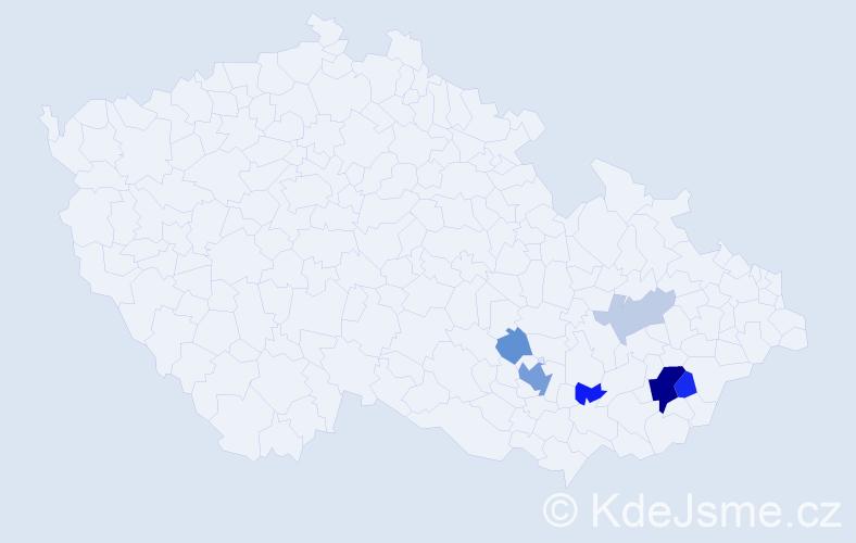 Příjmení: 'Kuchovská', počet výskytů 17 v celé ČR
