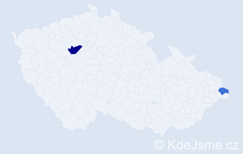 Příjmení: 'Čorňak', počet výskytů 8 v celé ČR