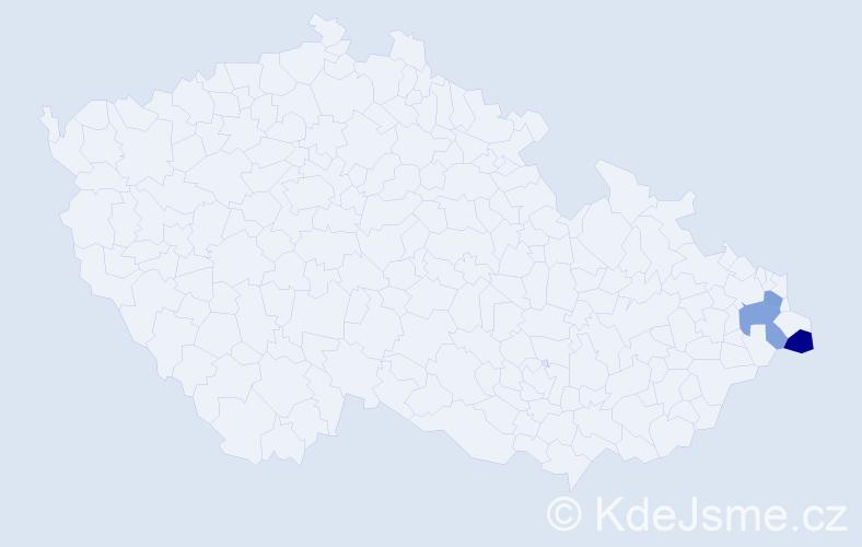 Příjmení: 'Kalinčíková', počet výskytů 3 v celé ČR