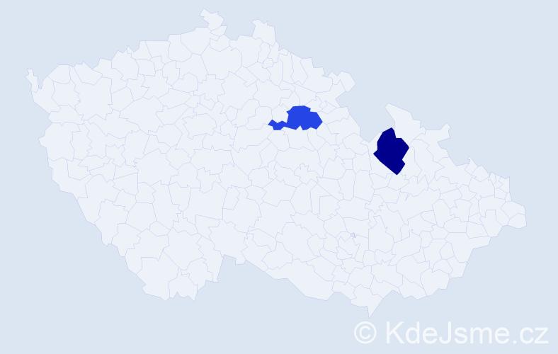 Příjmení: 'Čuchránová', počet výskytů 2 v celé ČR