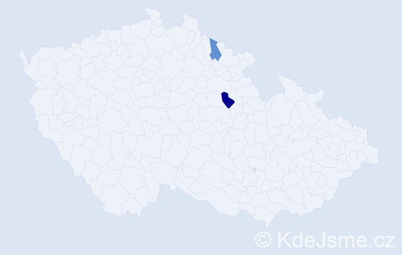 Příjmení: 'Kamenohorský', počet výskytů 5 v celé ČR