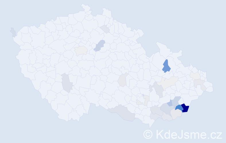 Příjmení: 'Hnilo', počet výskytů 80 v celé ČR