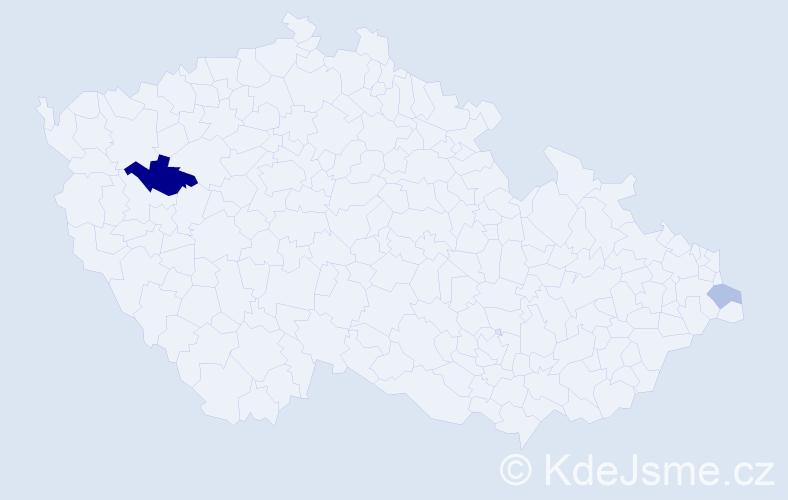 Příjmení: 'Epikaridis', počet výskytů 4 v celé ČR