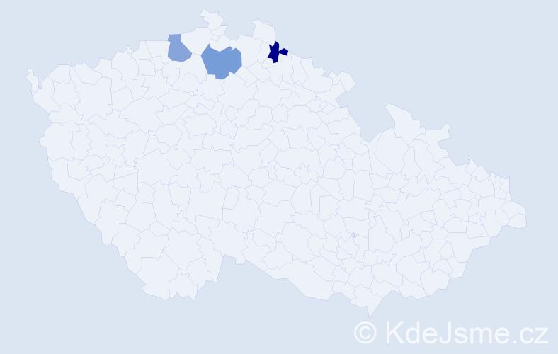 Příjmení: 'Andreová', počet výskytů 3 v celé ČR