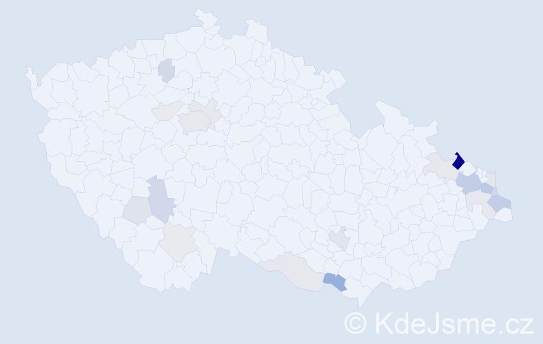 Příjmení: 'Baranková', počet výskytů 57 v celé ČR