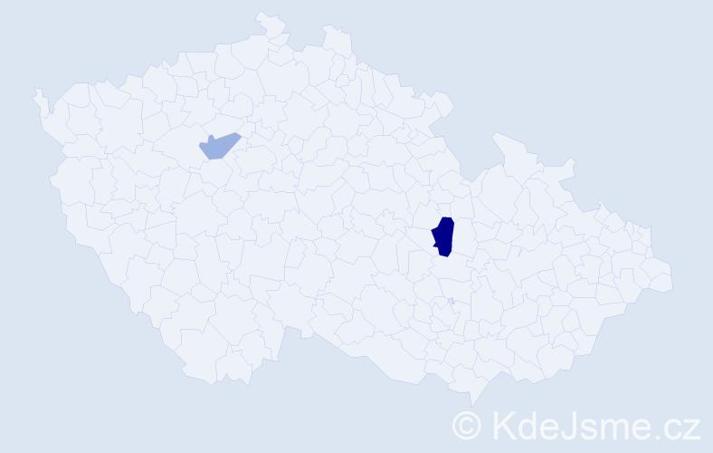 Příjmení: 'Bartelt', počet výskytů 6 v celé ČR
