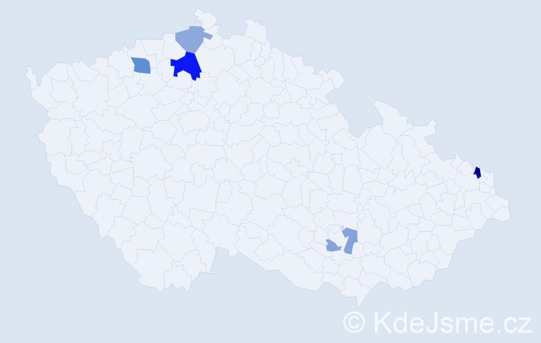Příjmení: 'Čenkovič', počet výskytů 9 v celé ČR