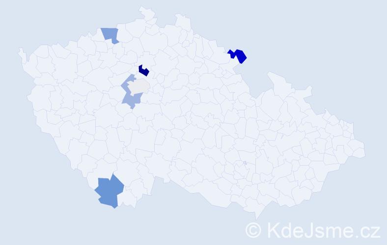 Příjmení: 'Carr', počet výskytů 14 v celé ČR