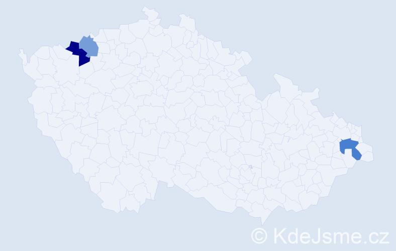Příjmení: 'Jabrocká', počet výskytů 5 v celé ČR