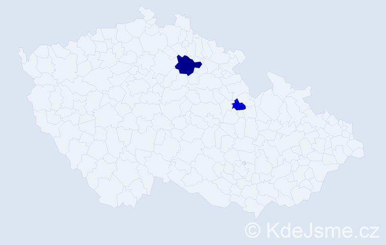 Příjmení: 'Lavrík', počet výskytů 3 v celé ČR