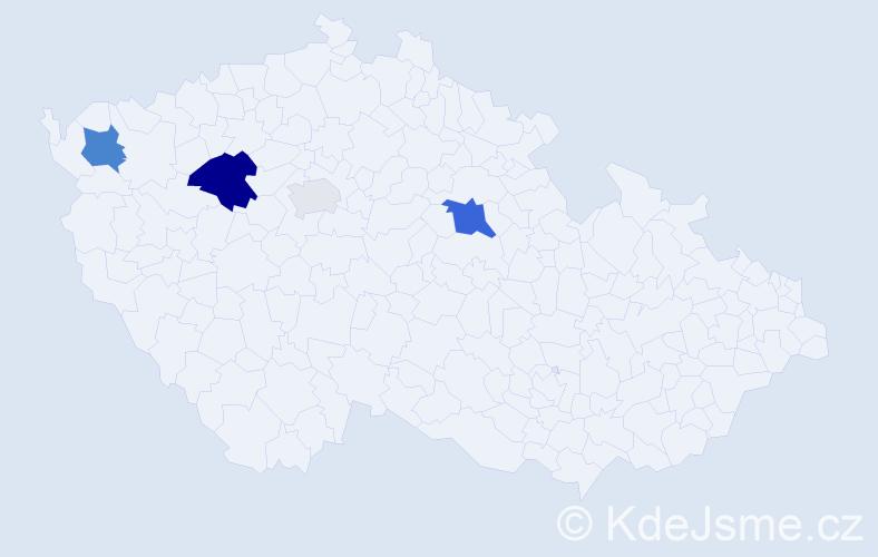 Příjmení: 'Derzsi', počet výskytů 9 v celé ČR