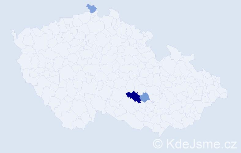 Příjmení: 'Gaizura', počet výskytů 6 v celé ČR