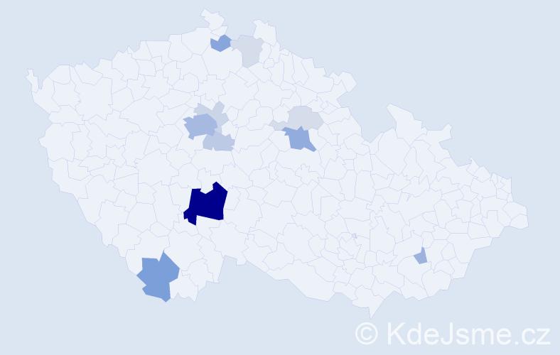 Příjmení: 'Čásenská', počet výskytů 41 v celé ČR