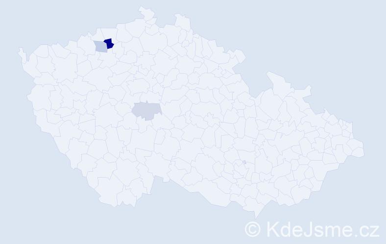 Příjmení: 'Drégr', počet výskytů 9 v celé ČR