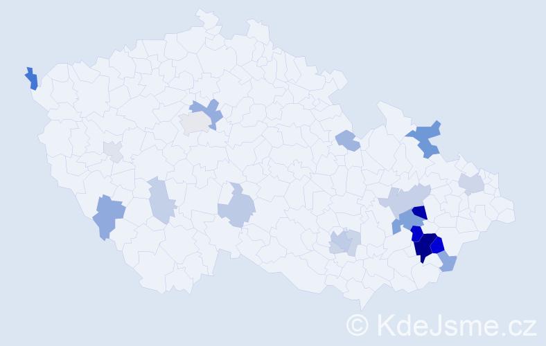 Příjmení: 'Gogelová', počet výskytů 59 v celé ČR