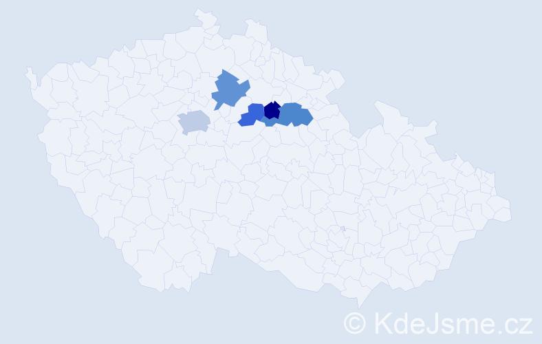 Příjmení: 'Hnojil', počet výskytů 11 v celé ČR