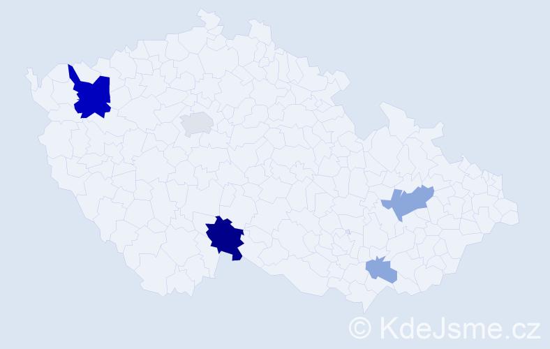 Příjmení: 'Bali', počet výskytů 15 v celé ČR