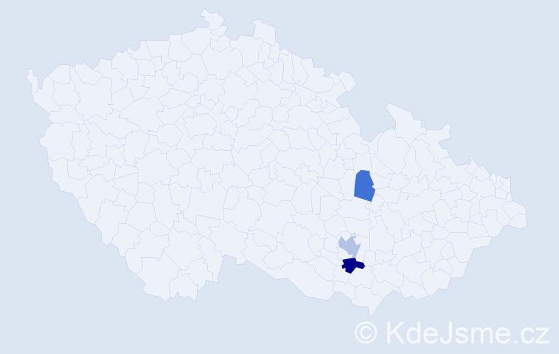 Příjmení: 'Čižiková', počet výskytů 6 v celé ČR