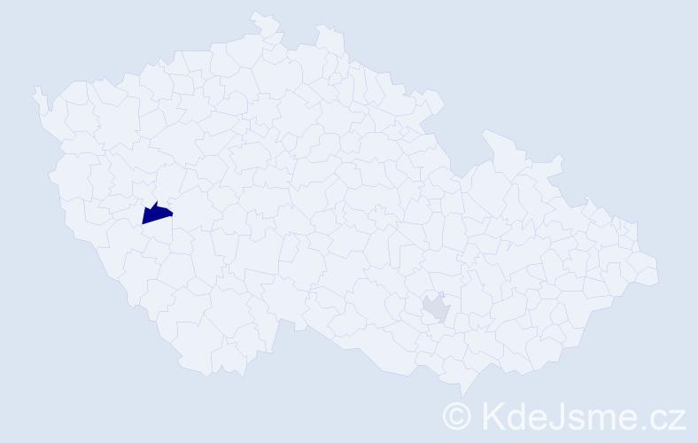 Příjmení: 'Lanner', počet výskytů 2 v celé ČR