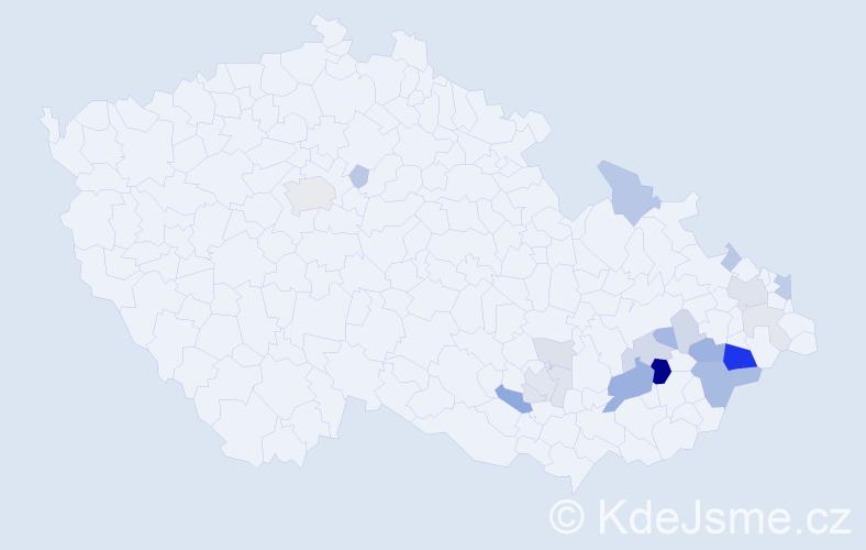 Příjmení: 'Diatka', počet výskytů 58 v celé ČR