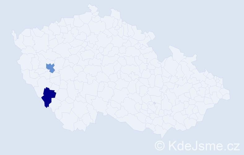 Příjmení: 'Gotz', počet výskytů 3 v celé ČR
