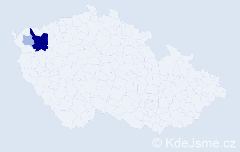 Příjmení: 'Čabrák', počet výskytů 8 v celé ČR