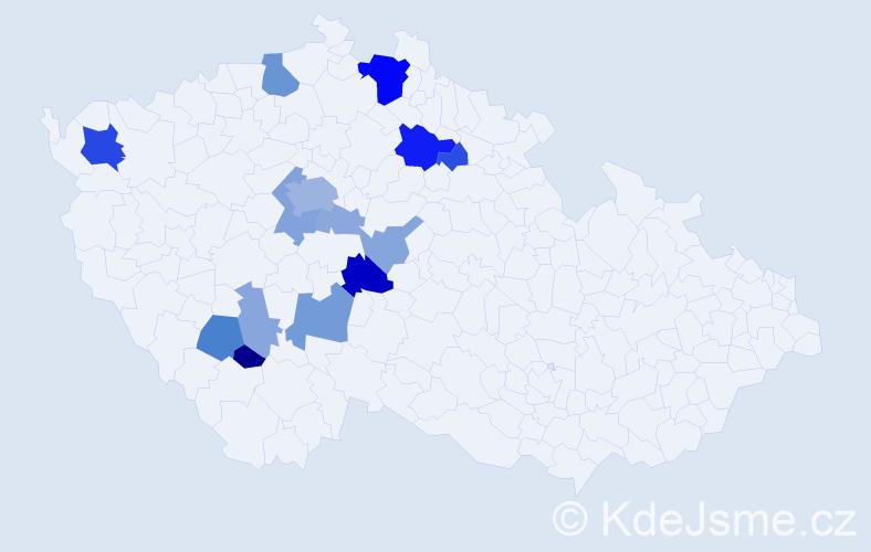 Příjmení: 'Hauzer', počet výskytů 40 v celé ČR