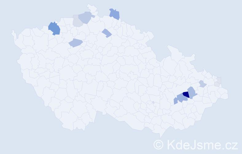 Příjmení: 'Eleš', počet výskytů 35 v celé ČR