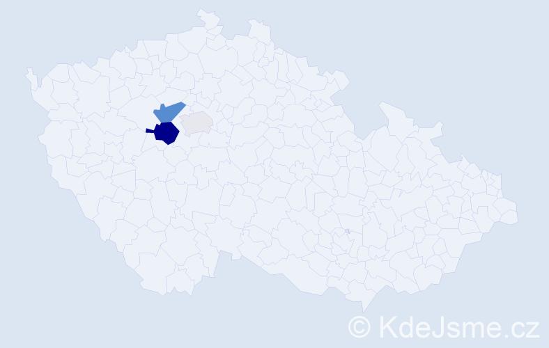 Příjmení: 'Buncík', počet výskytů 8 v celé ČR