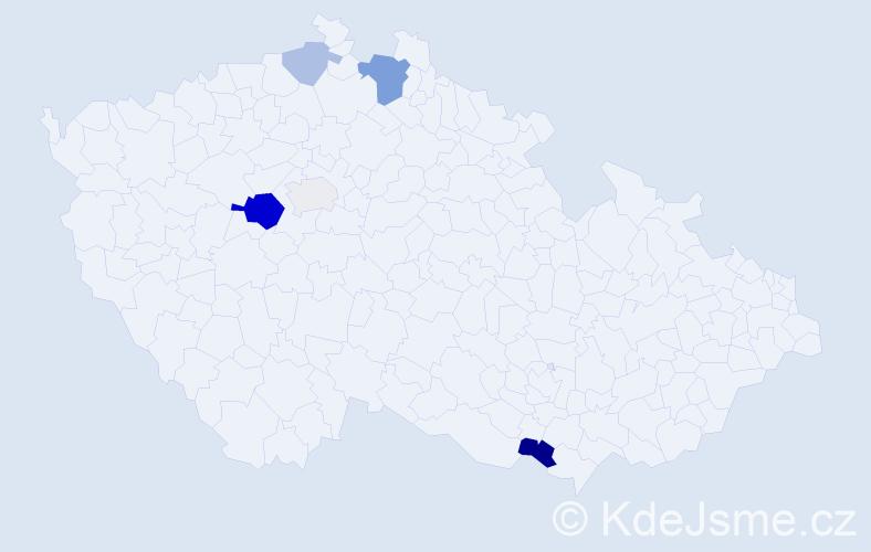 Příjmení: 'Klenovič', počet výskytů 12 v celé ČR