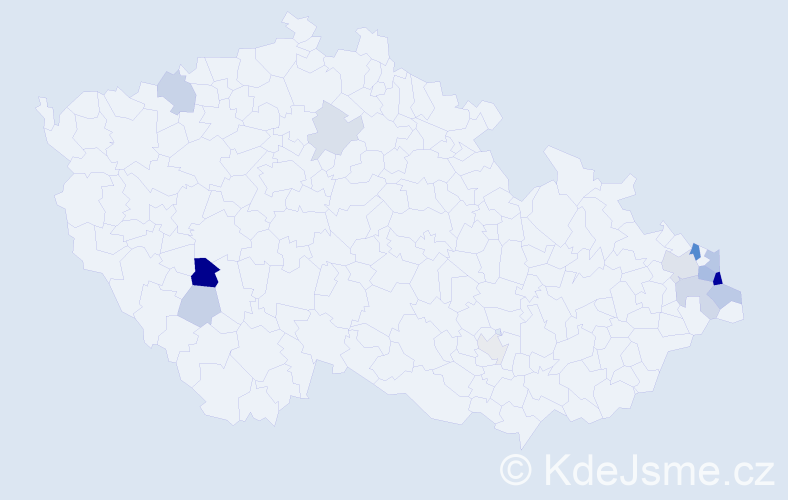 Příjmení: 'Faja', počet výskytů 56 v celé ČR