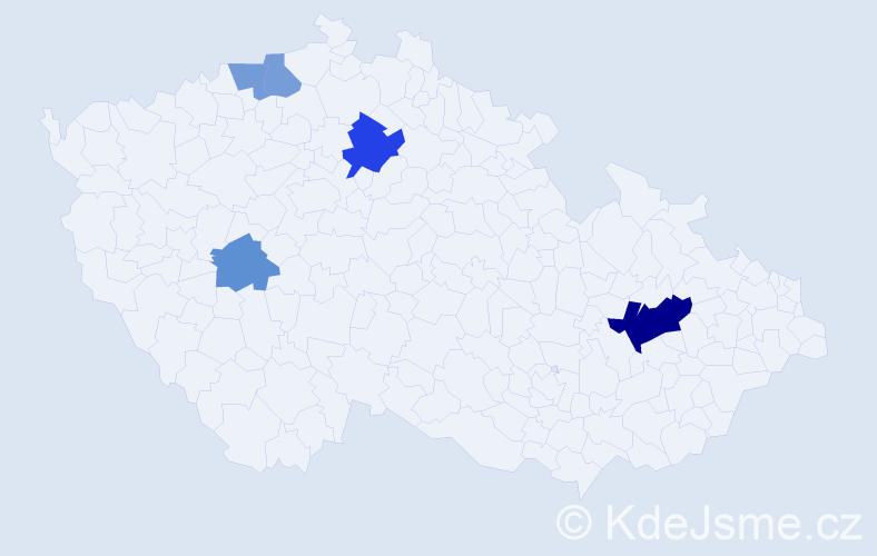 Příjmení: 'Cankař', počet výskytů 9 v celé ČR