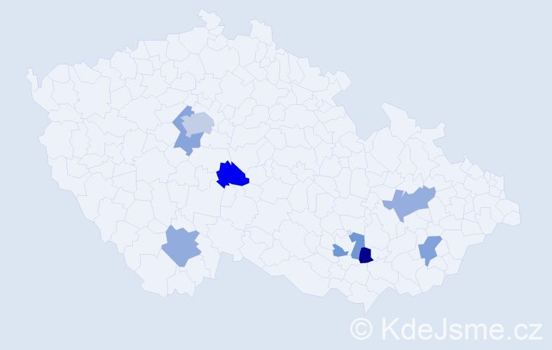 Příjmení: 'Dragová', počet výskytů 10 v celé ČR