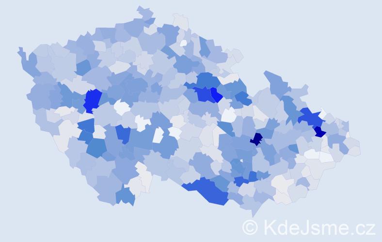 Příjmení: 'Jedlička', počet výskytů 3660 v celé ČR
