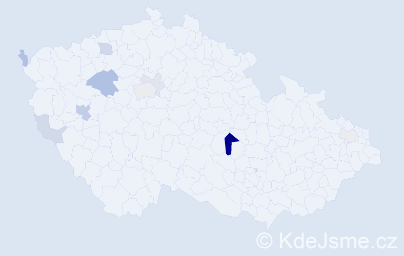 Příjmení: 'Follprecht', počet výskytů 25 v celé ČR