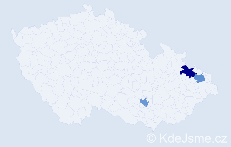 Příjmení: 'Berza', počet výskytů 3 v celé ČR